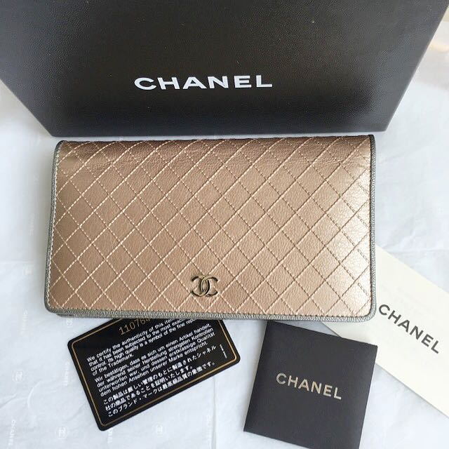 Chanel 菱格紋長夾
