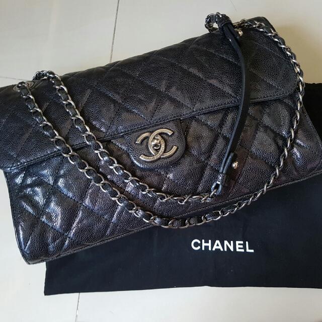 d2795b7f1393 Flash sale  2900) Chanel CC Crave Seasonal Distressed Caviar Classic ...