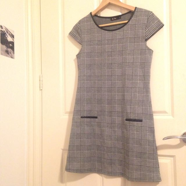 Checked Shift Dress