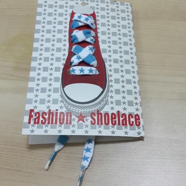 Converse阿根廷藍星星條紋鞋帶 #好物免費送