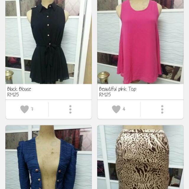Dress, Blouse, Skirt
