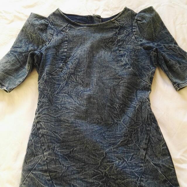 Fitted Denim Dress