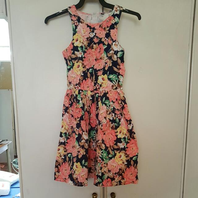 Floral Zip Dress (Blogshop)