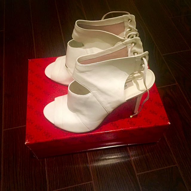 GUESS White Booties Size 9.5