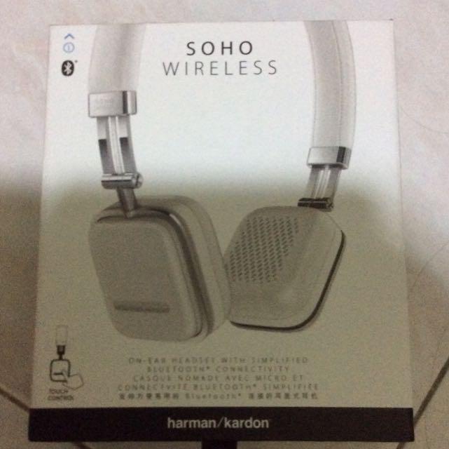 fce7ae36b9e Harman Kardon Soho Wireless Headphone, Electronics, Audio on Carousell