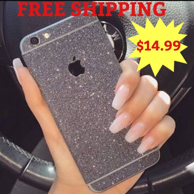 IPHONE 6 6plus 5s GLITTER STICKER FASHION HOT LOOK