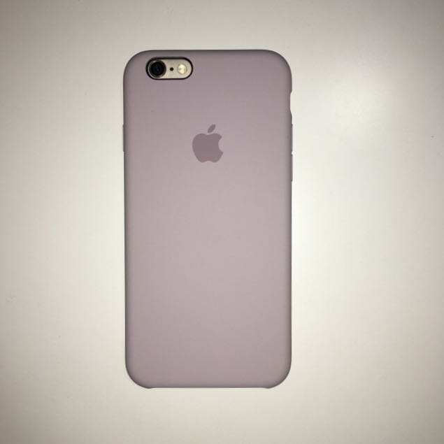 蘋果原廠iPhone 6s 矽膠護套-淡紫色,原價1150元