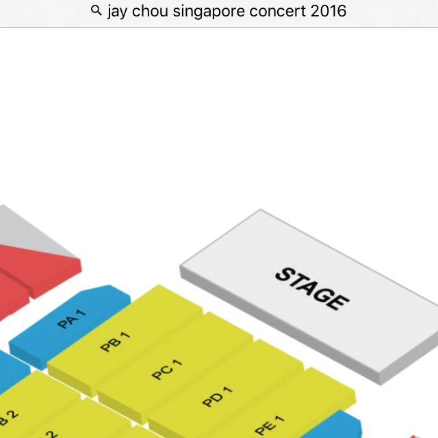 Jay Chou Ticket * 2  Sep 3 PA1