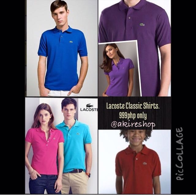 Authentic Lacoste Classics for Women, Men and kids