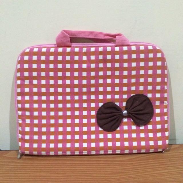 Laptop Bag Pink Ribbon