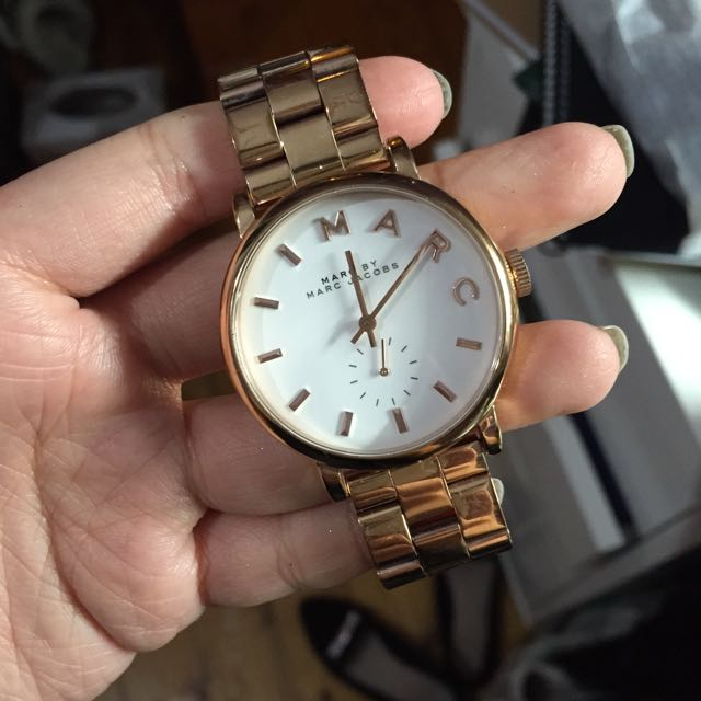 Marc Jacobs Rose Gold Baker Watch Women S Fashion Accessories On