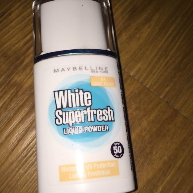 Maybeline White Superfresh Liquid Powder (sand Beige)