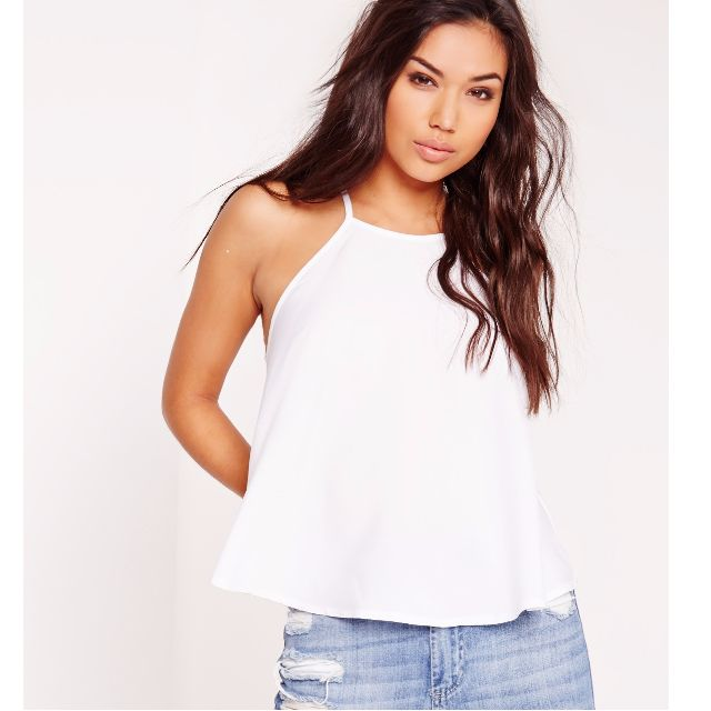 Missguided Swing Cami Top White