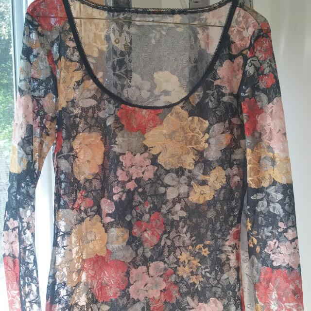 Only Brand Floral Lace Top