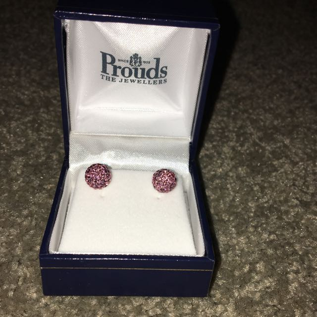 Pink Sparkling Prouds Earrings