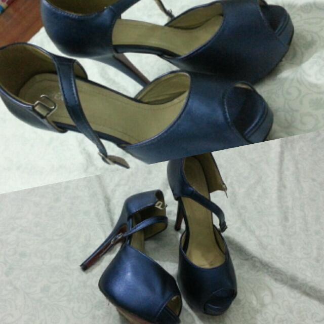 Pump Shoes / High Heels Blue Metalic