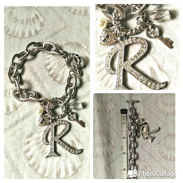 R charm bracelet