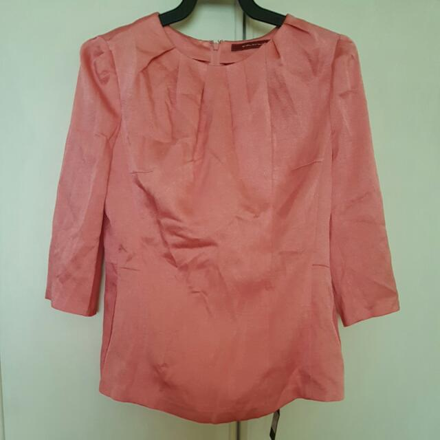 SALE: BNWT BLUM & CO. Salmon Pink Blouse