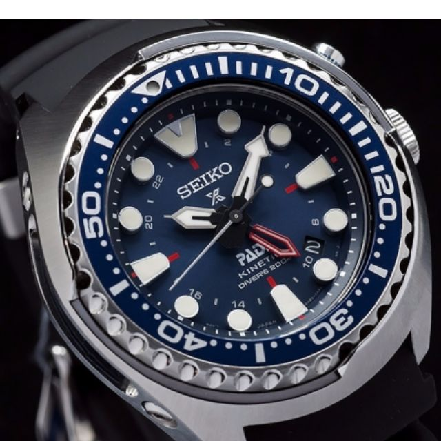 Seiko Prospex Sun065 Special Edition Padi Kinetic Gmt Diver Watch