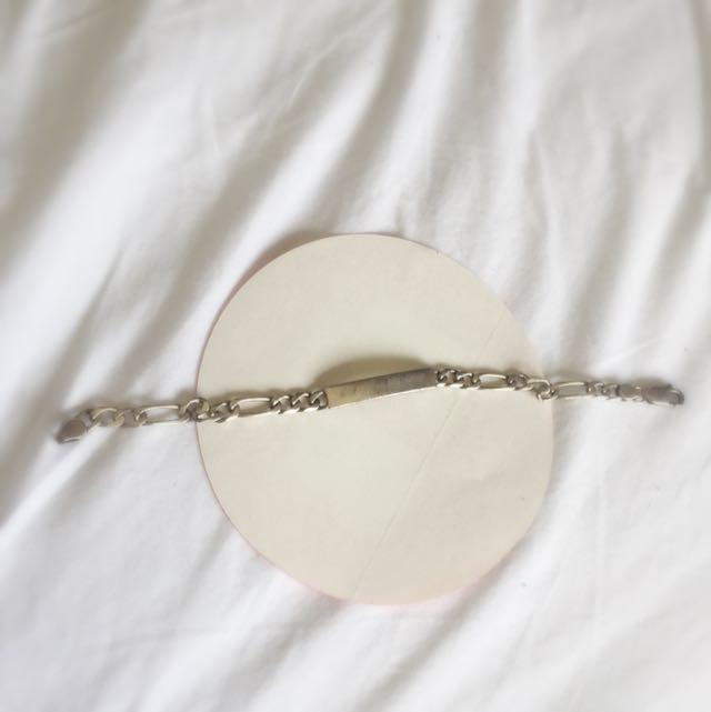 Silver Engrave - Able Bracelet