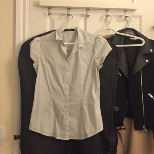 Stripe Shirt Sleeveless (size XS-S)