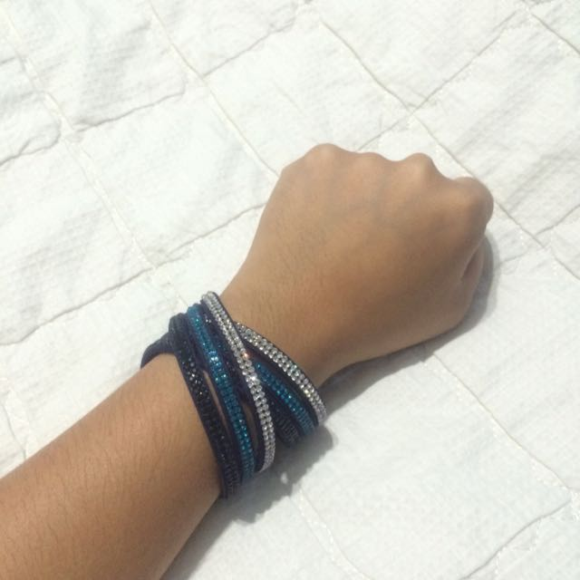 Swarovski Inspired Wrap Bracelet