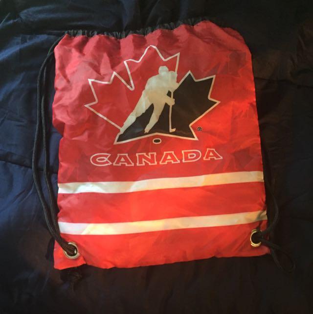 Team Canada Drawstring Bag