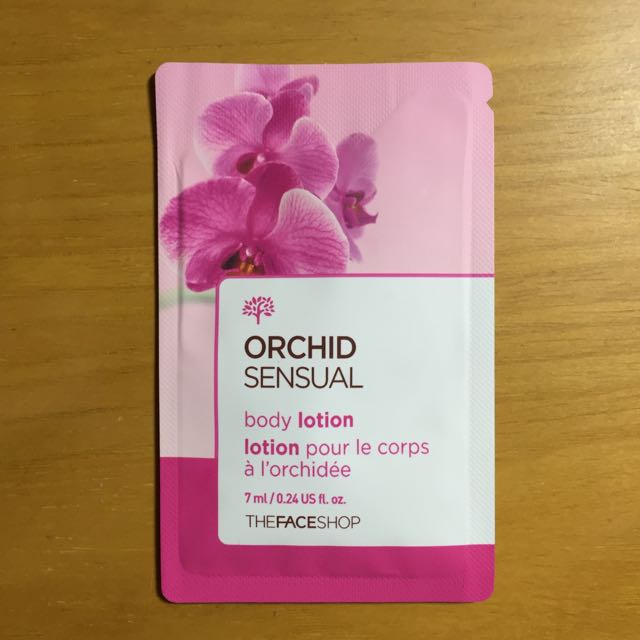 The face shop orchid sensual body lotion (sample size)