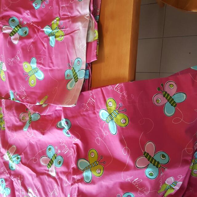 These Are Butterfly Curtains For A Girls Bedroom