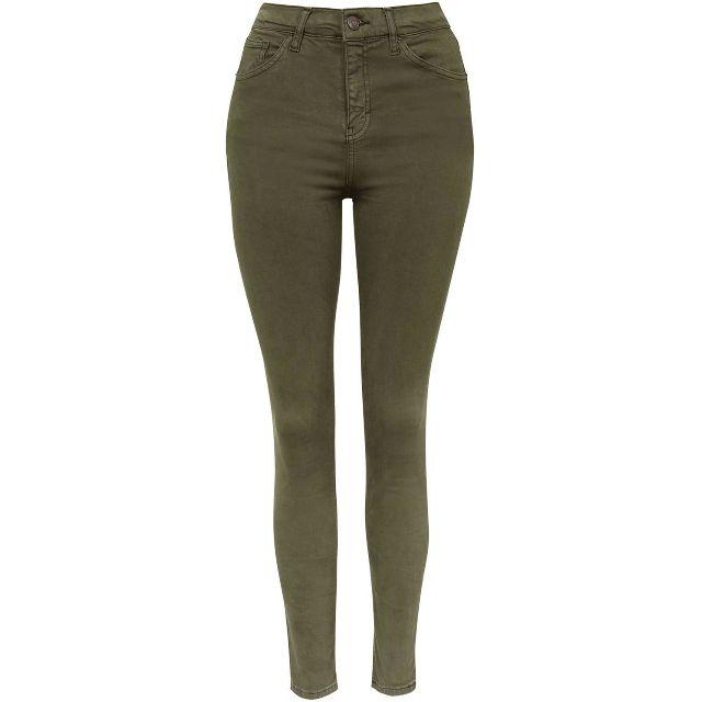 TOPSHOP Moto Khaki Jamie Jeans