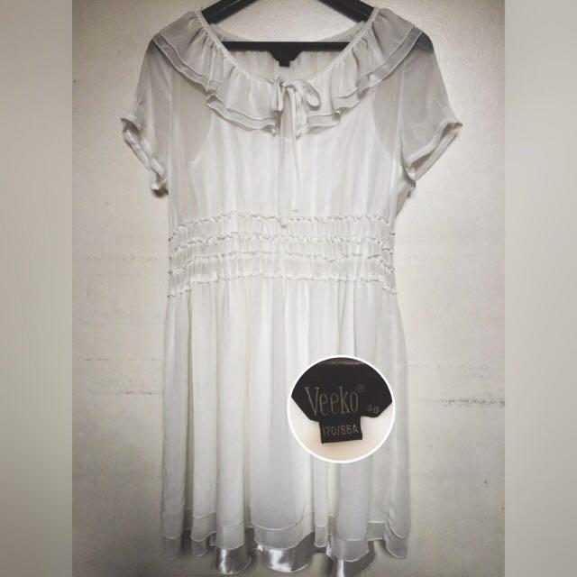 Veeko White Dress