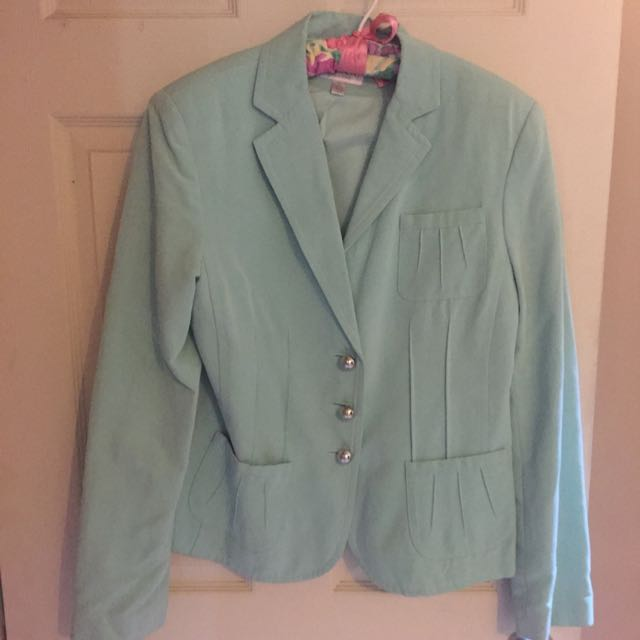 Waist Length Aqua Jacket Sz 10