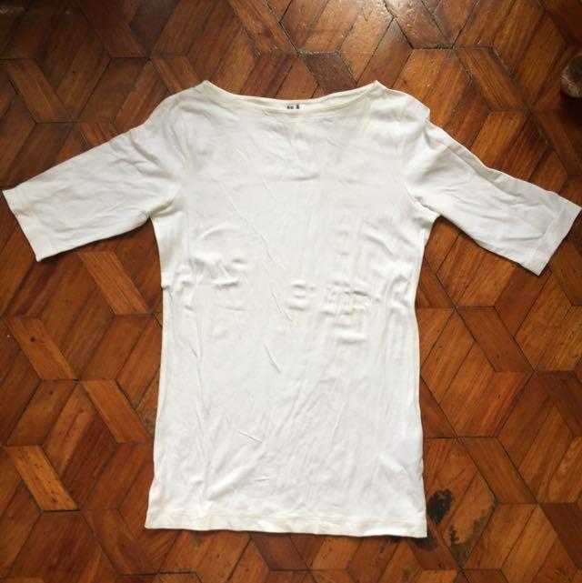 White 3/4s Long sleeves