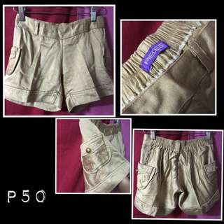 Pieces Gold Shorts