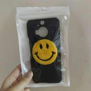 HTC M9+ 手機硬殼 毛絨笑臉