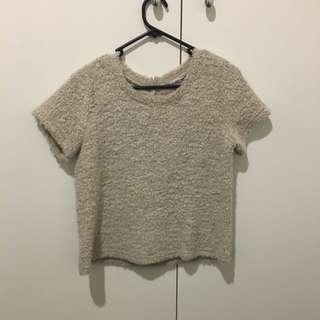 Cream Wooly Top