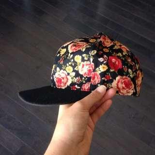 Floral Snap-back Hat