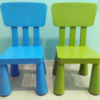 Ikea Children Chairs Bundle (Blue & Green)
