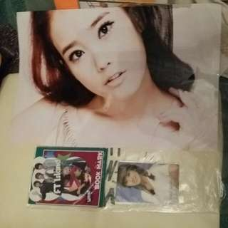 贈品 FT island bookmark JESSICA 卡貼 IU 大相