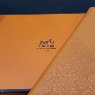 Vintage Hermes Leather Notebook