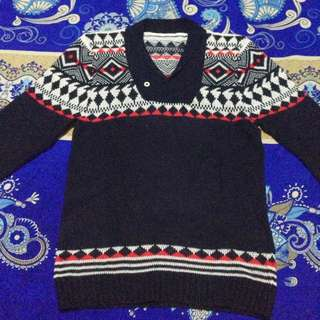 Navy Abstrak Sweater