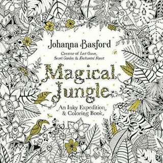 New N Original From Amazon US)Magical Jungle Coloring Book