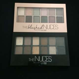 Maybelline: The Nudes + The blushed Nudes
