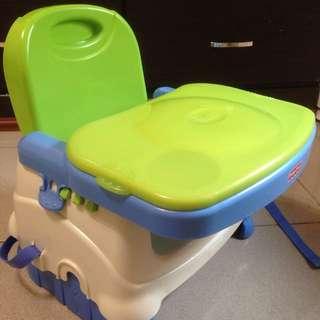費雪 寶寶攜帶式餐椅(附原產品盒)