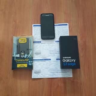 Samsung Galaxy S7 Edge 4G+ 32GB Black Onyx. Warranty Till 15 Mar 17. No Dents Or Scratches. Full Box. Free Otterbox Commuter And Otterbox Symmetry.