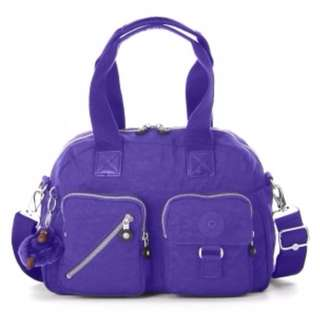 Kipling Defea Medium Handbag in Neon Purple