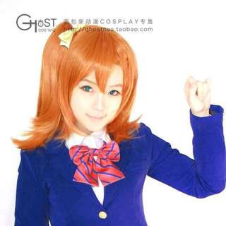 Wig Ghostcos Honoka Kousaka Love Live Clip On Preloved