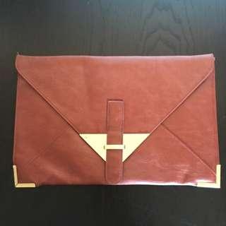 ASOS PU Large Envelope Clutch