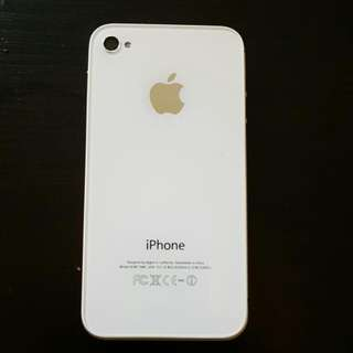 Iphone 4 Black With White Back Cover