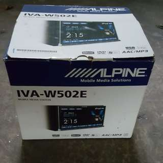 Alpine IVA-W502E Multimedia Player + iPod Extension + KCE-400BT